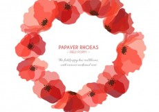 Free vector Poppies frame #4595