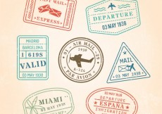 Free vector Postage stamps #11016
