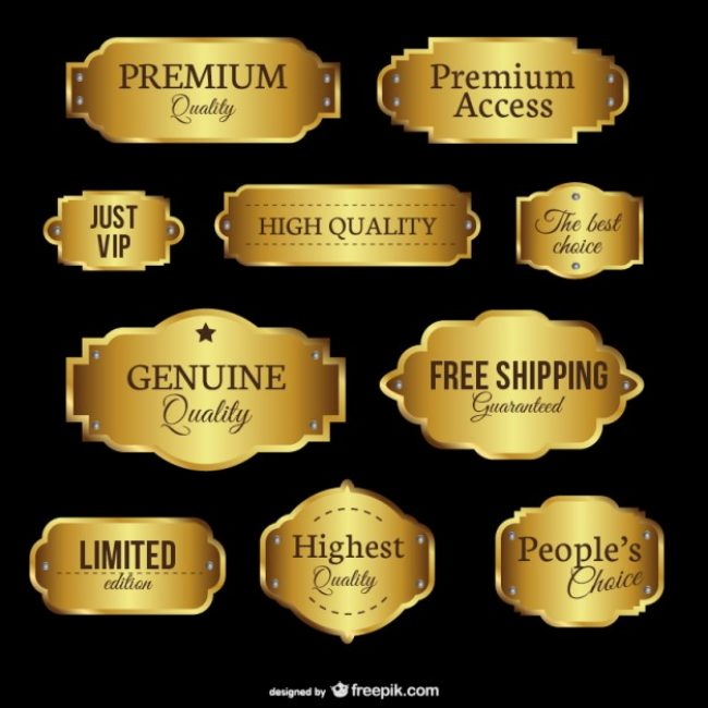 Free vector Premium quality emblems #11667