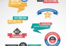 Free vector Promotion ribbon banners #11993