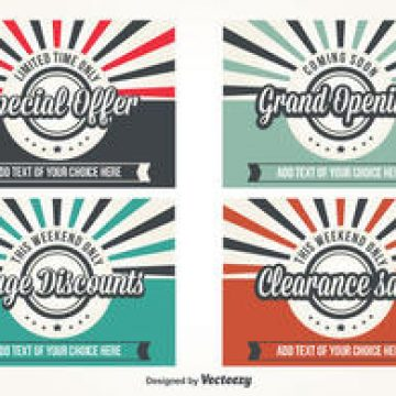 Free vector Promotional Retro Style Vector Labels #4398