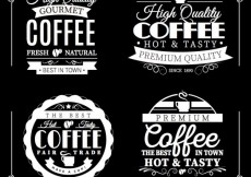 Free vector Quality coffee badges #9019