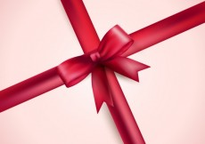 Free vector Realistic red ribbon with a bow #8085
