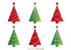 Free vector Red And Green Cristmas Tree Vectors #11261