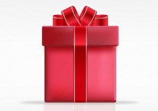Free vector Red gift box #9678