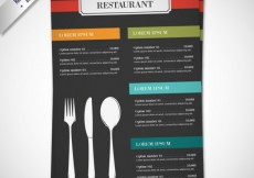 Free vector Resturant menu with cutlery #10471