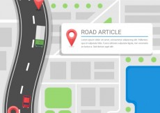 Free vector Road article template #10221