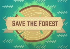 Free vector Save the forest #4633