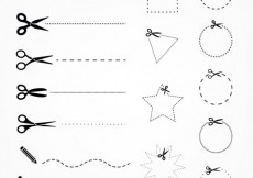 Free vector Scissors with cut lines #6256