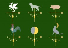 Free vector Set of Different Weather Vanes in Vector #11770
