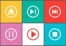 Free vector Set of Player Control Buttons in Vector #5498