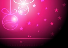Free vector Shiny pink christmas background #10543