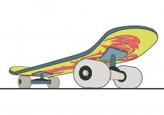 Free vector Skateboard close up with design #9215