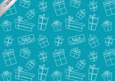Free vector Sketchy gifts pattern #10958