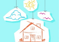 Free vector Sketchy house hanging #7406