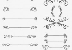 Free vector Sketchy ornaments #8251