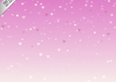 Free vector Snowing hearts over pink background #11530