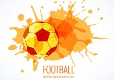 Free vector Soccer ball with watercolor splashes #4839