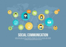 Free vector Social communication net #4557