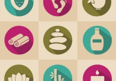 Free vector Spa icons collection #6278
