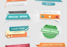 Free vector Special offer banners in colorful style #11090