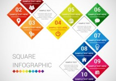 Free vector Squares infographic #11350