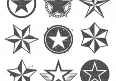 Free vector Stamped star icons #9942