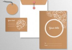 Free vector Stationery with sketchy roses #6027