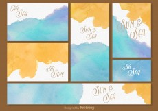 Free vector Summer Beach time Card Template #4269