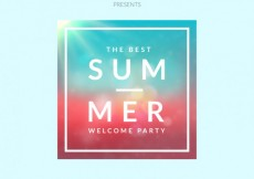 Free vector Summer party poster in gradient style #4942