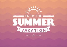 Free vector Summer vacation badge #5141