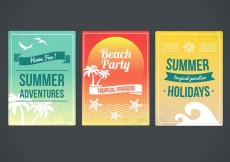 Free vector Summertime posters #7999