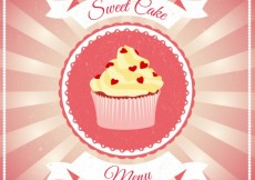 Free vector Sweet cake poster #9418