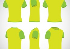 Free vector T shirts in lime green color #7123