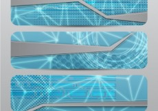Free vector Technological banners in abstract style #9989