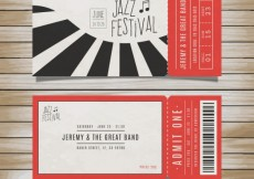 Free vector Tickets for jazz festival #7939