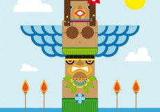 Free vector Totem pole #4613