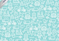 Free vector Toys pattern #5171
