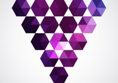 Free vector Triangle made with purple hexagons #6854