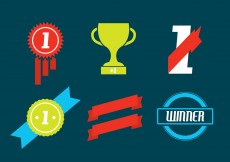 Free vector Trophy and Awards Vector Icons Set #5530