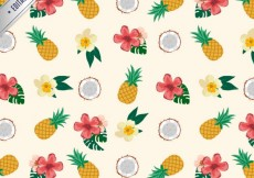 Free vector Tropical pattern #11687