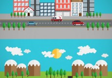 Free vector Urban and rural highway #12135