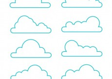 Free vector Variety of clouds #5784