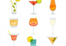 Free vector Variety of cocktails #7040