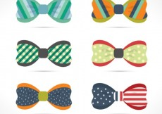 Free vector Variety of colorful bow ties #7641