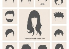 Free vector Variety of hairstyles #8907