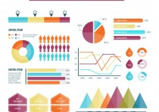 Free vector Variety of infographic elements #11941