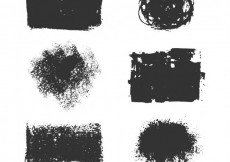 Free vector Variety of paint stains #8959