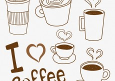 Free vector Variety of sketchy coffee cups #8132