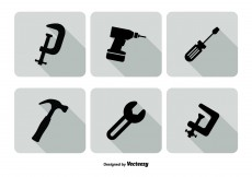 Free vector Assorted Tools Icon Set #7984